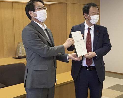 5/28 新型コロナウィルス感染対策に関する緊急要望・提言を中原市長へ